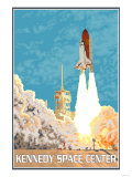 Kennedy Space Center, Cape Canaveral, Florida Art by  Lantern Press