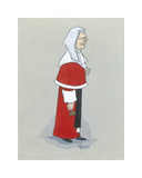 The High Court Judge Premium Giclee Print by Simon Dyer