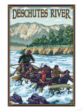 Deschutes River Rafting, Bend, Oregon Prints by  Lantern Press