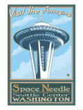 Visit the Space Needle, Seattle, Washington Prints by  Lantern Press