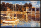 The Bridge at Argenteuil Framed Canvas Print by Claude Monet