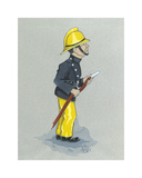 The Fireman Premium Giclee Print by Simon Dyer