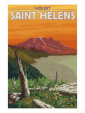 Scenic Mount St. Helens, Washington Prints by  Lantern Press