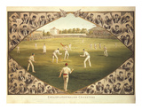 English And Australian Cricketers Premium Giclee Print by I.f. Weedon