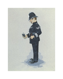 The Policeman Premium Giclee Print by Simon Dyer