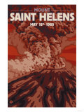 Mount St. Helens Eruption, Washington, May 18, 1980 Prints by  Lantern Press