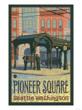 Pioneer Square Pergola, Seattle, Washington Giclée-Premiumdruck von  Lantern Press