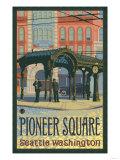 Pioneer Square Pergola, Seattle, Washington Art by  Lantern Press
