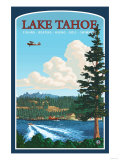 Recreation, Lake Tahoe, California Prints by  Lantern Press