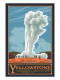 Old Faithful Geyser, Yellowstone National Park, Wyoming Affiches