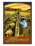 Hawaiian Pineapple Harvest Affiches