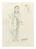 Designs For Cleopatra LV Premium Giclee Print by Oliver Messel