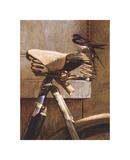 Swallow On Bicycle Reproduction procédé giclée Premium par Peter Munro