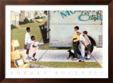 Moving In Prints by Norman Rockwell