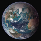 Planet Earth Eastern Hemisphere, NASA Satellite Composite Lámina fotográfica por Stocktrek Images