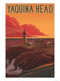Oregon Coast Yaquina Head Lighthouse Prints by  Lantern Press