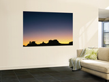 Sunset silhouetting the desert landscape Mural por Rich Reid