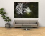 A Rare White Tiger at the Cincinnati Zoo Wall Mural by Michael Nichols