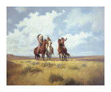 Indian Scouts Premium Giclee Print by Harry Bishop