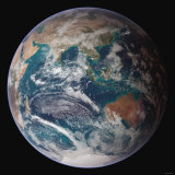 Planet Earth Western Hemisphere, NASA Satellite Composite Lámina fotográfica por Stocktrek Images