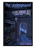Underground Tour, Seattle, Washington Prints