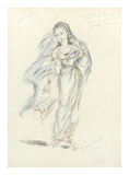 Designs For Cleopatra LII Premium Giclee Print by Oliver Messel