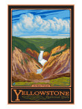 Artist Point, Yellowstone National Park, Wyoming Affiches