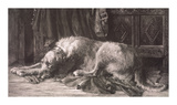 Irish Deerhound Premium Giclee Print by Herbert Dicksee