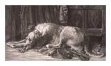Irish Wolfhounds Premium Giclee Print by Herbert Dicksee