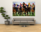 Horse Race in Motion Wall Mural by Peter Walton