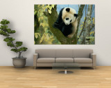 Juvenile Giant Panda Wall Mural by Lu Zhi