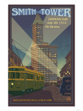 Smith Tower, Seattle, Washington Prints by  Lantern Press