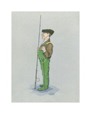 The Fly Fisherman Premium Giclee Print by Simon Dyer