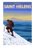 Mountain Climbing, Mount St. Helens, Washington Prints