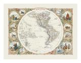 Western Hemisphere Premium Giclee Print by John Tallis