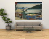 View from Seven Hot Springs at Hakone&quot;&quot; Reproduction murale g&#233;ante par Ando Hiroshige