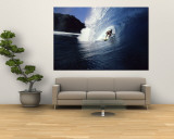 Surfer Riding a Wave Mural