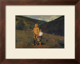 Crossing the Pasture Prints by Winslow Homer
