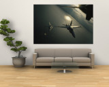 FA-18 Navy Jets in Flight over the Chesapeake Bay Wall Mural