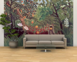 Exotic Landscape, 1910 Wall Mural – Large by Henri Rousseau