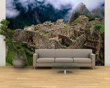 Overview of Terraced Royal Inca Ruins, Machu Picchu, Peru Wall Mural – Large by Jeffrey Becom