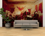 Signing the Declaration of Independence, July 4th, 1776 Wall Mural – Large by John Trumbull