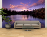 Mt. Hood Reflected in Mirror Lake, Oregon Cascades, USA Wall Mural  Large by Janis Miglavs