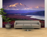 Denali National Park near Wonder Lake, Alaska, USA Wall Mural – Large by Charles Sleicher