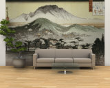 Evening Bell at Mii Temple Wall Mural – Large by Ando Hiroshige