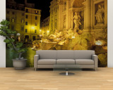 Trevi Fountain at Night, Rome, Italy Wall Mural – Large by Connie Ricca