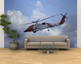 Coast Guard helicopter Demo at the Seattle Maritime Festival, Washington, USA Wall Mural – Large by William Sutton