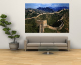 Landscape of Great Wall, Jinshanling, China Muurposter van Keren Su