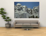 A close view of Mount Rushmore Mural por Paul Damien