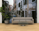 View of a Canal in a Quiet Residential Section of Venice Wall Mural  Large by Taylor S. Kennedy